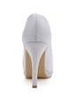 Women's Satin Stiletto Heel Peep Toe Pumps With Rhinestone (047039657)