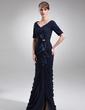 Denizkızı Off-Omuz Uzun Etekli Chiffon Charmeuse Gelin Annesi Elbisesi (008006242)