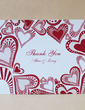 Personalized Heart design Hard Card Paper Thank You Cards (Set of 50) (118029374)