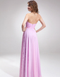 A-Line/Princess Sweetheart Floor-Length Chiffon Bridesmaid Dress With Ruffle Flower(s) (007020928)