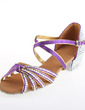 Women's Satin Sandals Pumps Latin With Rhinestone Ankle Strap Buckle Dance Shoes (053026924)