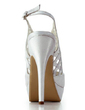 Women's Satin Stiletto Heel Peep Toe Platform Sandals Slingbacks (047011878)