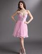 A-Line/Princess Sweetheart Short/Mini Chiffon Homecoming Dress With Ruffle Beading (022016292)