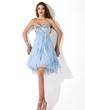 Imperialna Kochanie Do Kolan Chiffon Charmeuse Sukienka na Zjazd Absolwentów Z Perełki Cekiny (022009019)