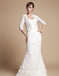 Trumpet/Mermaid Sweetheart Floor-Length Lace Wedding Dress (002011670)