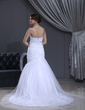 Trumpet/Mermaid Sweetheart Chapel Train Tulle Wedding Dress With Lace Beading (002000112)