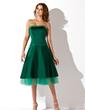 A-Line/Princess Strapless Knee-Length Satin Homecoming Dress (022021009)