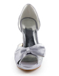 Women's Satin Sparkling Glitter Cone Heel Peep Toe Platform Sandals With Bowknot Sparkling Glitter (047010769)