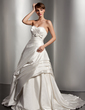 Ball-Gown Sweetheart Court Train Taffeta Wedding Dress With Ruffle Bow(s) (002014520)