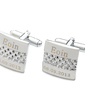 Personalized Square Stainless Steel Cufflinks (Set of 2) (118033684)