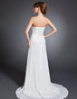 A-Line/Princess Strapless Court Train Chiffon Mother of the Bride Dress With Ruffle Beading (008015101)