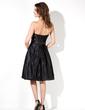 Çan/Prenses Askısız Diz Hizası Satin Nedime Elbisesi Ile Büzgü Boncuklama (007000960)