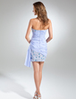Sheath/Column Sweetheart Short/Mini Chiffon Cocktail Dress With Ruffle Beading Sequins (016024429)
