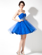 A-Line/Princess Sweetheart Short/Mini Tulle Homecoming Dress With Ruffle Beading Sequins (022020866)