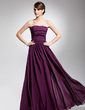 A-Line/Princess Strapless Floor-Length Chiffon Evening Dress With Ruffle (017014692)