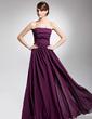 A-Line/Princess Strapless Floor-Length Chiffon Evening Dress With Ruffle (017014692)