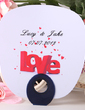 Personalized Love Design Plastic Hand Fans (118029518)