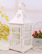 Attractive House shaped Glass/Iron Candle Lantern (131039201)