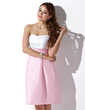 Sheath/Column Sweetheart Knee-Length Taffeta Bridesmaid Dress With Ruffle (007004307)