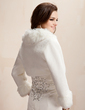 Long Sleeve Faux Fur Wedding Wrap (013020419)