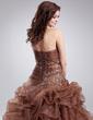 Tanssiaismekot Kullanmuru Lattiaa hipova pituus Organzanauha Quinceanera mekko jossa Helmikuvoinnit Applikaatiot Pitsi Laskeutuva röyhelö (021004552)