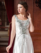 A-Line/Princess Sweetheart Court Train Taffeta Wedding Dress With Ruffle Beading Appliques Lace (002024445)