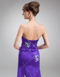 A-Line/Princess Sweetheart Sweep Train Satin Mother of the Bride Dress With Appliques Lace Sequins (008016863)