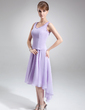 A-Line/Princess V-neck Asymmetrical Chiffon Mother of the Bride Dress With Beading (008005645)