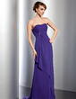 Empire Sweetheart Sweep Train Chiffon Bridesmaid Dress With Beading Cascading Ruffles (007001097)