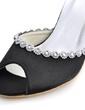 Women's Satin Stiletto Heel Sandals Slingbacks With Rhinestone (047039639)