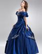 Balo Elbisesi Askısız Uzun Etekli Tafta Quinceanera (15 Yaş) Elbisesi Ile Nakışlı Büzgü Boncuk (021002833)
