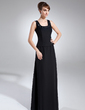 A-Line/Princess Square Neckline Floor-Length Chiffon Mother of the Bride Dress With Beading Sequins (008006144)
