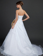 Ball-Gown Sweetheart Chapel Train Taffeta Wedding Dress With Lace Beading Flower(s) (002015378)