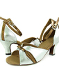 Women's Leatherette Patent Leather Heels Sandals Latin With Bowknot Dance Shoes (053013305)