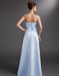 Sheath/Column Sweetheart Floor-Length Satin Bridesmaid Dress With Ruffle (007001037)