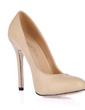 Leatherette Stiletto Heel Pumps Closed Toe shoes (085017500)
