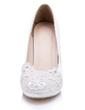 Women's Satin Stiletto Heel Closed Toe Pumps With Flower (047056261)