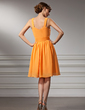 A-Line/Princess Square Neckline Knee-Length Chiffon Homecoming Dress With Ruffle Beading (022011336)