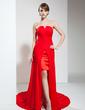 A-Line/Princess Sweetheart Asymmetrical Chiffon Prom Dress With Ruffle (018020789)
