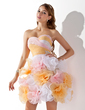A-Line/Princess Sweetheart Short/Mini Organza Homecoming Dress With Ruffle Beading (022020997)