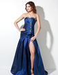 A-Line/Princess Sweetheart Court Train Taffeta Prom Dress With Ruffle Beading Split Front (018002492)