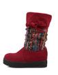 Süet Düz Topuk Mid-Buzağı Boots Kar Boots ayakkabı (088057349)