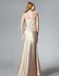 Trumpet/Mermaid Sweetheart Floor-Length Charmeuse Evening Dress With Lace (017004466)