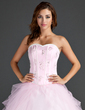 Ball-Gown Sweetheart Floor-Length Tulle Quinceanera Dress With Beading Appliques Lace Sequins (021015586)