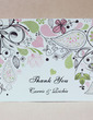 Personalized Floral Design Hard Card Paper Thank You Cards (Set of 50) (118029372)