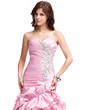 A-Line/Princess Sweetheart Sweep Train Taffeta Evening Dress With Embroidered Ruffle Beading Sequins (008018931)
