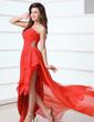 A-Line/Princess One-Shoulder Asymmetrical Chiffon Prom Dress With Ruffle Beading (018017339)