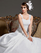 Ball-Gown Sweetheart Court Train Satin Organza Wedding Dress With Ruffle Lace Beading (002011422)