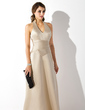 A-Line/Princess Halter Floor-Length Satin Bridesmaid Dress (007001810)