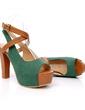 Skóra ekologiczna Gruby Obcas Sandały Platforma Z Klamra obuwie (087015208)